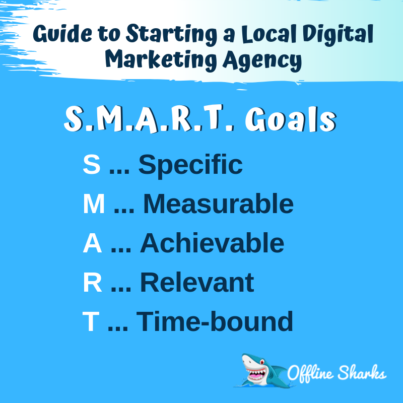 SMART Goals Start Marketing Agency Offline Sharks Blog
