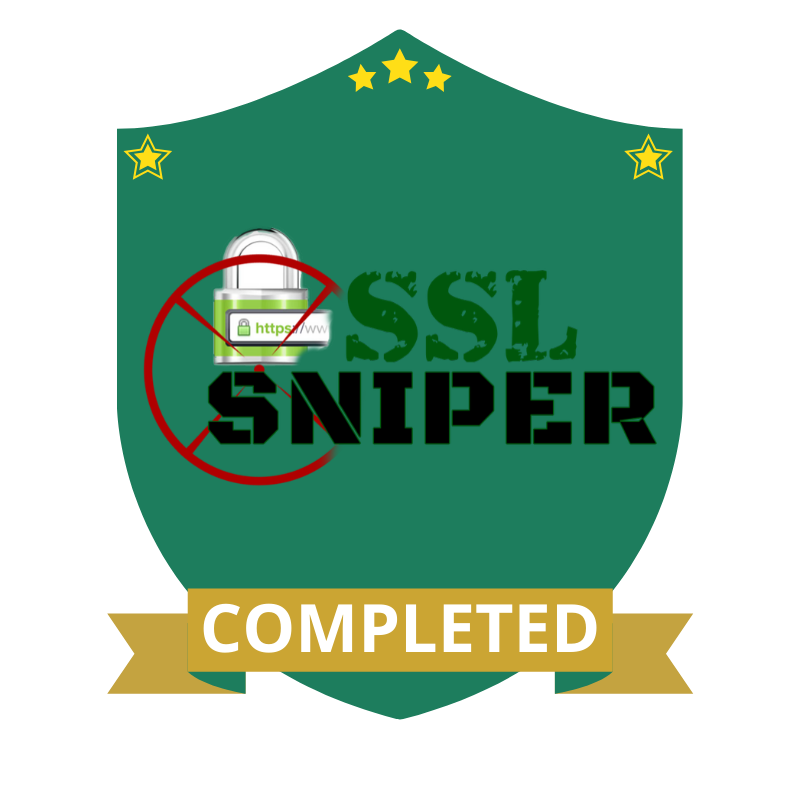 SSL Sniper Completed