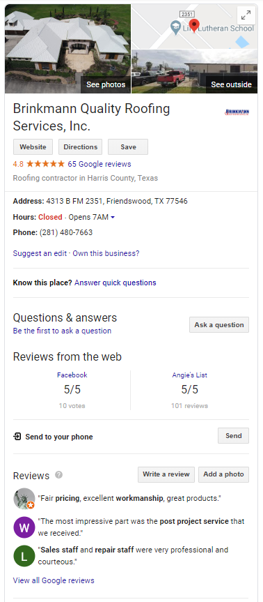 Off Page SEO local knowledge panel offline sharks