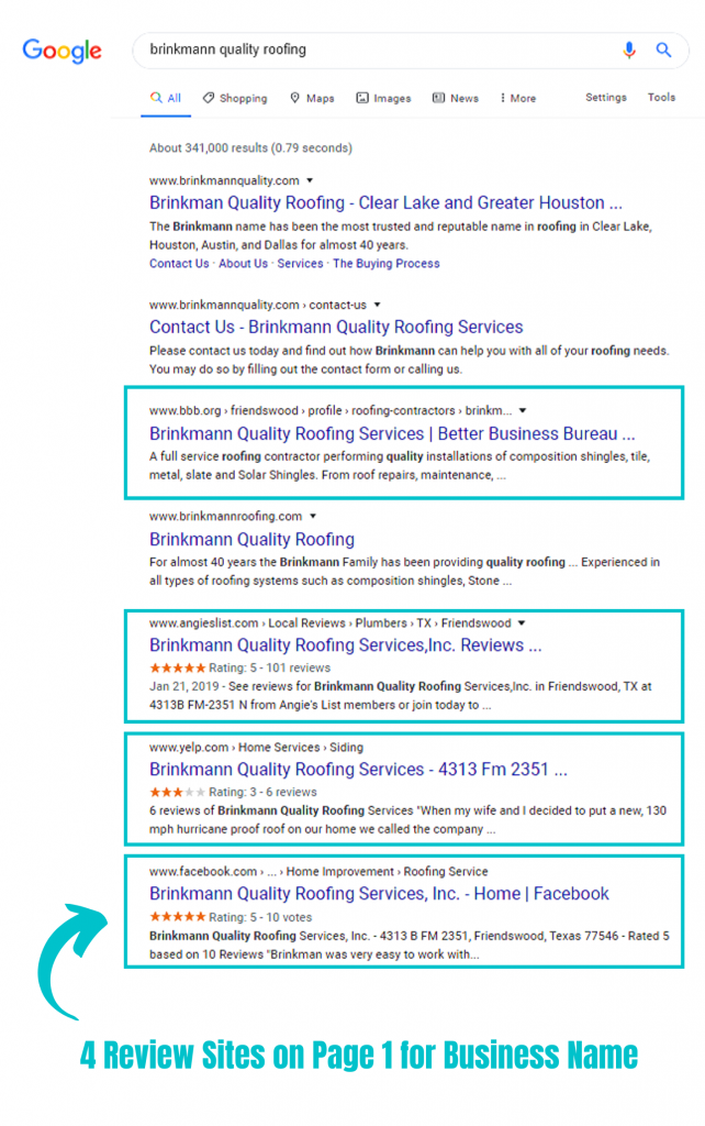 local off page seo reviews page 1