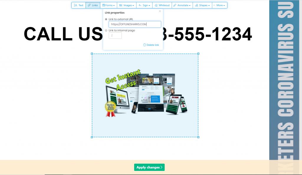 Free PDF Editing Tools Sedja Hyperlink