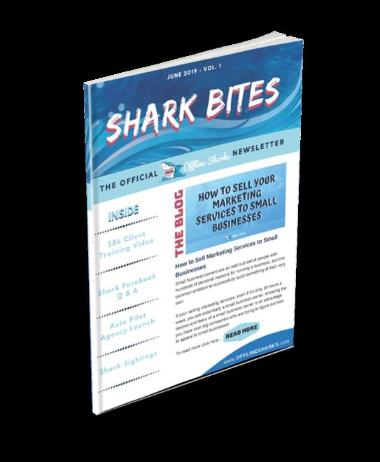 shark bites standing